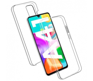 Funda Doble Samsung Galaxy A41 Silicona Transparente Delantera y Trasera