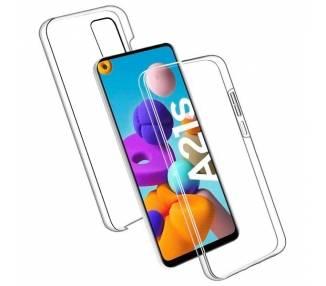 Funda Doble Samsung Galaxy A21S Silicona Transparente Delantera y Trasera