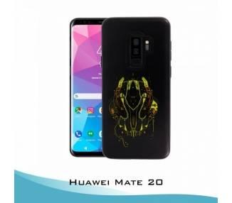 Funda Huawei Mate 20 Gel 2 piezas Máscara Amarilla