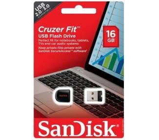 SanDisk Cruzer Fit, 16GB, PenDrive Memoria Flash USB, Stick