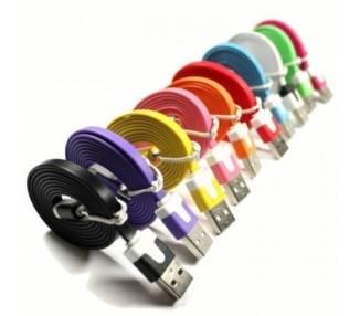 ŁADOWANIE KABLA DANYCH 1 M PŁASKIE PŁASKIE MICRO USB RÓŻOWY POMARAŃCZOWY ŻÓŁTY CZERWONY 1M NOWOŚĆ
