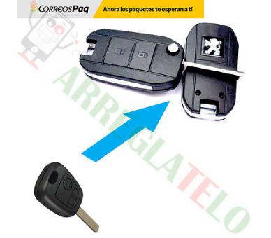 Peugeot 206 207 306 307 406 407 408   Folding Key Converter ARREGLATELO - 1