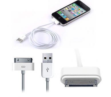 Originele iPhone 4 4S & Lightning USB-kabel voor 5 5S 5C 6 6S Plus iPad 2 3 Air  - 1