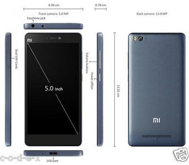 Xiaomi Mi 4C MI4C modelo nuevo, HexaCore SnapDragon 808, 2G Ram 16 G Rom Negro Xiaomi - 5