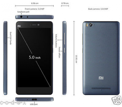 Xiaomi Mi 4C MI4C nieuw model, HexaCore SnapDragon 808, 2G Ram 16 G Rom Zwart Xiaomi - 5