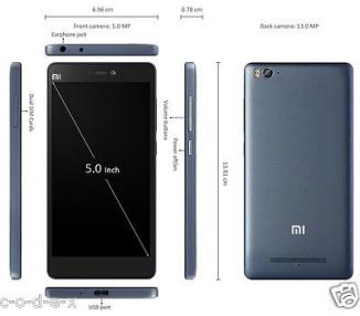 Nowy model Xiaomi Mi 4C MI4C, HexaCore SnapDragon 808, 2G Ram 16 G Rom Czarny