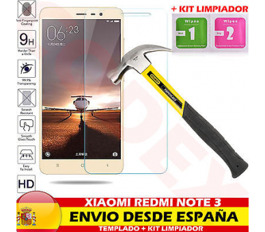 Protector Pantalla Cristal Templado Premium para Xiaomi Redmi Note 3 ARREGLATELO - 1