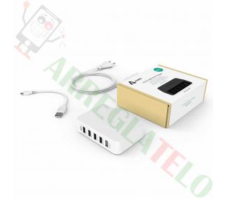 AUKEY Cargador Inteligente USB Tecnología AiPower / OTG / Carga Rapida 39W 7,8A