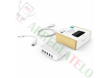 AUKEY Cargador Inteligente USB Tecnología AiPower / OTG / Carga Rapida 39W 7,8A  - 1