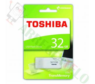 Pendrive Flash Toshiba Hayabusa THNU32HAYWHT Memoria USB 3.0 de 32GB negro  - 1