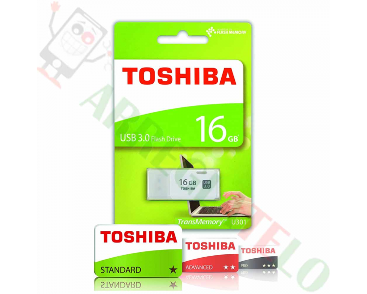 Pendrive Toshiba THN-U301W0160E4 Memoria USB 3.0 de 16GB plateado  - 1