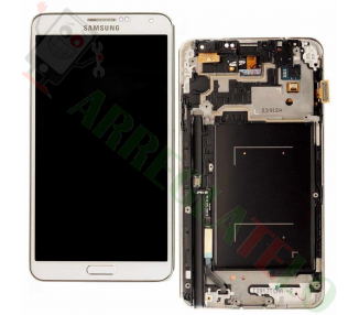 Display For Samsung Galaxy Note 3, Color White, With Frame, TFT