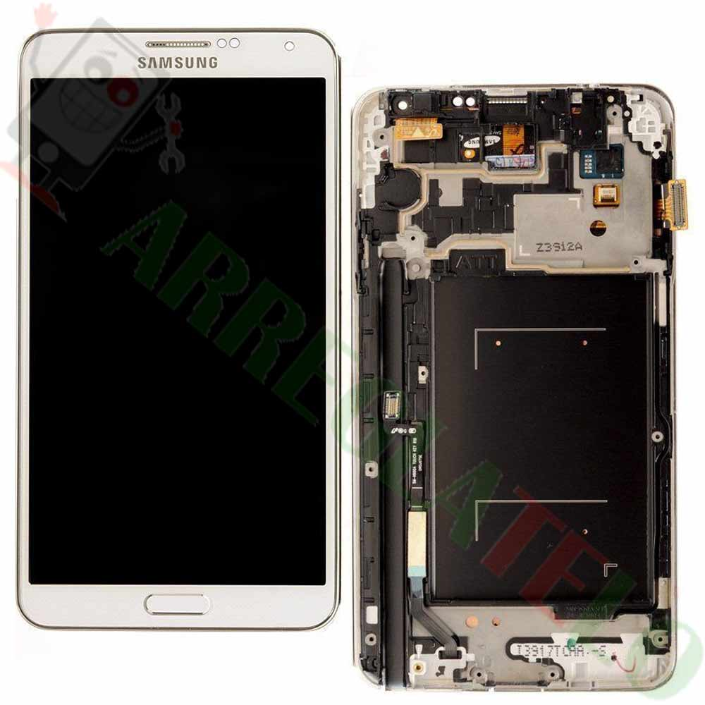 276ef8cb8ca PANTALLA Samsung Galaxy Note 3 Blanca Completa + Marco DISPLAY White MRW 24h  - ARREGLATELO.ES