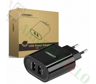 Ugreen 20383 - 2 Ports USB Charger (17W/5V, 3.4 A) Black