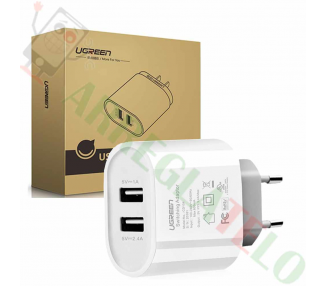 Ugreen 20383 - 2 Ports USB Charger (17W/5V, 3.4 A) White