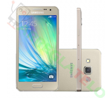 "Samsung Galaxy A3 - 4.5"",8 Mp, 16GB, Quad-Core, 1GB RAM Dorado Samsung - 1"