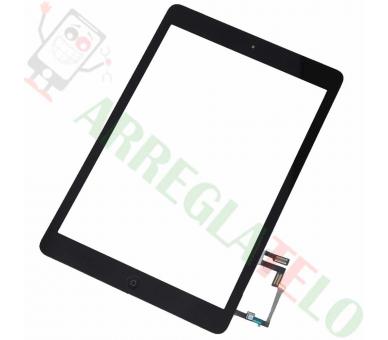 Zwart Zwart Digitizer-touchscreen voor iPad Air + Zwarte Home-knop ARREGLATELO - 1