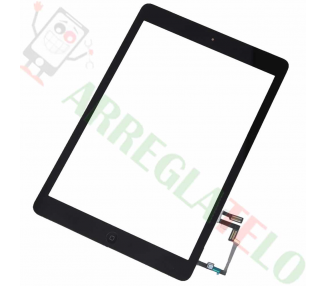 Pantalla Tactil Digitalizador Negro Negra para iPad Air + Boton Home Negro ARREGLATELO - 1