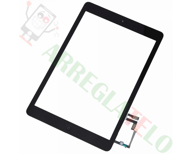 Czarny, czarny ekran dotykowy Digitizer do iPada Air + czarny przycisk Home