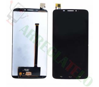 Pełny ekran dla Alcatel Hero OT8020 OT8020D OT 8020 D Czarny Czarny