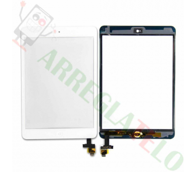 Touch Screen Digitizer Tablet iPad Mini 1 2 with Button Home | Color White ARREGLATELO - 1