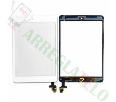 Wit Wit Touchscreen Tablet iPad Mini 1 2 + Home-knop met cip iC ARREGLATELO - 1