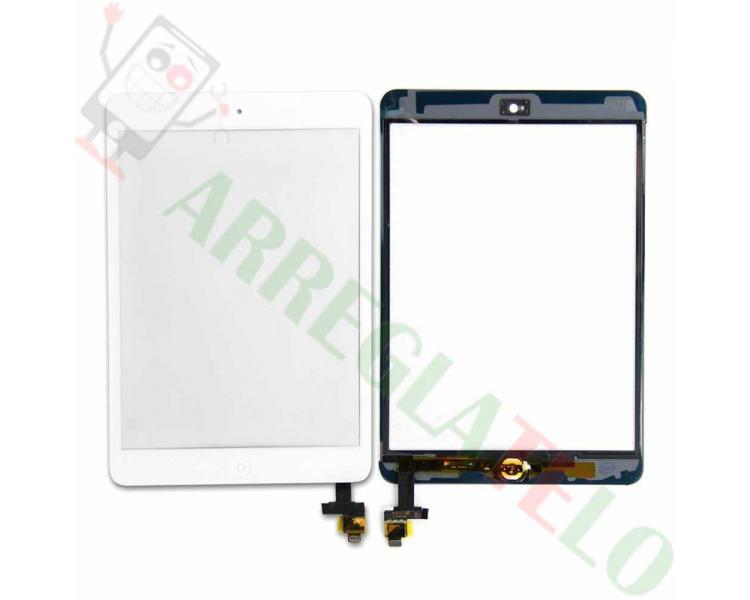 Pantalla Tactil Blanco Blanca Tableta iPad Mini 1 2 + Boton Home con cip iC ARREGLATELO - 1