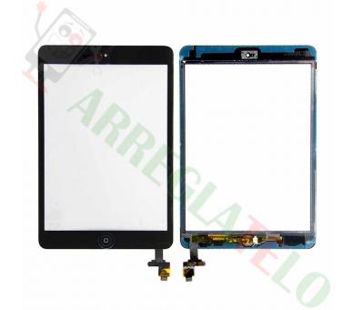Czarny czarny tablet z ekranem dotykowym iPad Mini 1 2 + przycisk Home z iC Cip ARREGLATELO - 1