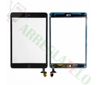 Touch Screen Digitizer Tablet iPad Mini 1 2 + Button Home   Color Black