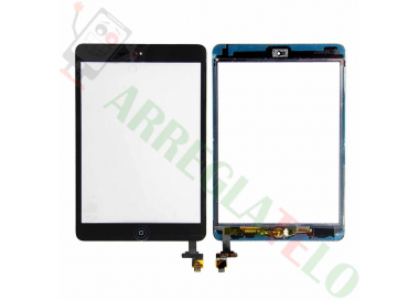 Pantalla Tactil Negro Negra Tableta iPad Mini 1 2 + Boton Home con cip iC ARREGLATELO - 1