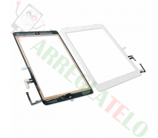 Digitalizzatore Touch Screen per iPad Air + Tasto Home Bianco Bianco
