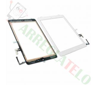 Digitalizzatore Touch Screen per iPad Air + Tasto Home Bianco Bianco
