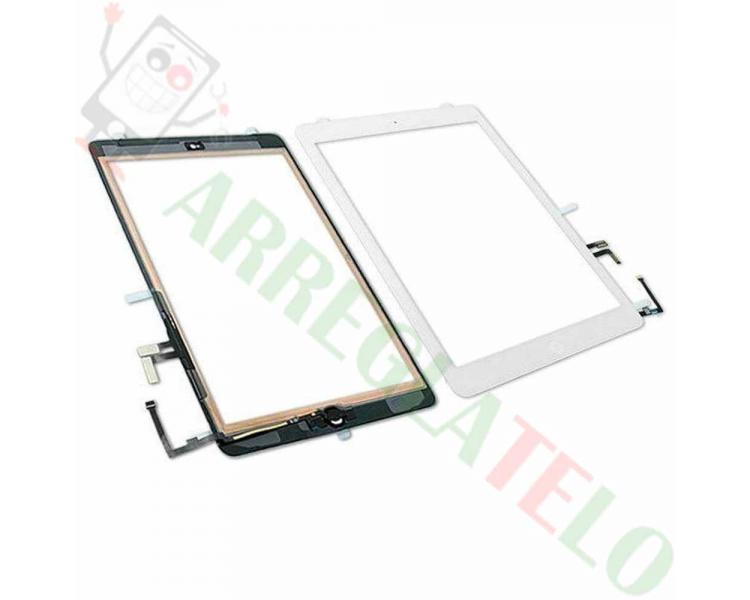 Touchscreen Digitizer voor iPad Air + Home-knop Wit Wit ARREGLATELO - 1