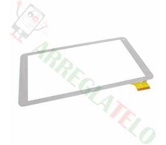 "Touch Digitizer Vetro Universal per Tablet Szenio 5000 Touch Screen Bianco 10"" Bianco"