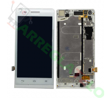 Display For Huawei G6, Color White, With Frame ARREGLATELO - 2