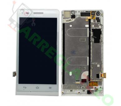 Volledig scherm met frame voor Huawei G6 G6-U00 3G Wit Wit FIX IT - 2