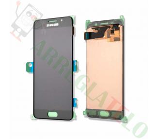 Oryginalny pełny ekran do Samsung Galaxy A3 A310F A310FN 2016 Czarny Czarny